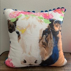 New Pioneer Woman Floral Cow Pillow